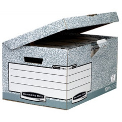 Archiefcontainer Fellowes Bankers Box Flip Top 39x56x31cm grijs
