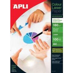Fotopapier Apli colour laser glossy A4 160gr (100)
