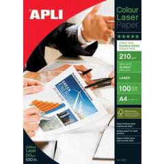 Fotopapier Apli colour laser glossy A4 210gr (100)