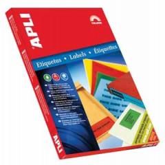 Etiketten Apli 24 etik/bl 70x37mm rood (100)