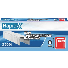Nietjes Rapid High Performance No.53 6mm gegalvaniseerd (2500)
