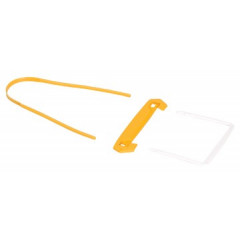 Archiefbinder Fellowes Bankers Box Tube Clip geel (100)