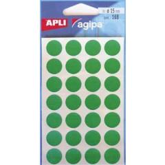 Etiketten Apli Ø 15mm groen (168)