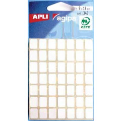 Etiketten Apli 9x13mm wit (343)