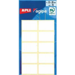 Etiketten Apli 20x32mm wit (70)