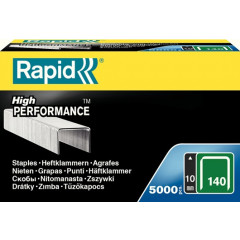 Nietjes Rapid High Performance No.140 10mm gegalvaniseerd (5000)