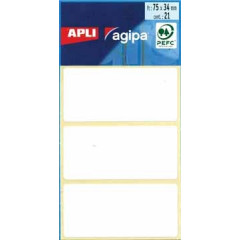 Etiketten Apli 34x75mm wit (21)