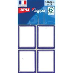 Etiketten Apli 38x50mm blauw (32)