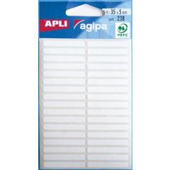 Etiketten Apli 5x35mm wit (238)