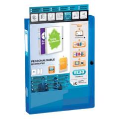 Elastobox Elba Polyvision PP A4 4cm transparant blauw