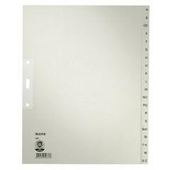 Tabbladen Leitz karton A4 maxi A-Z 3-gaats grijs