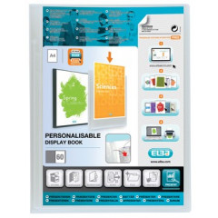 Showalbum Elba polyvision PP A4 60 tassen personaliseerbaar transparant