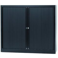 Roldeurkast Bisley 103x120x43cm (hxbxd) zwart