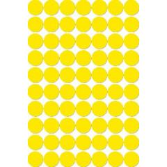 Etiketten Apli Ø 19mm geel (560)
