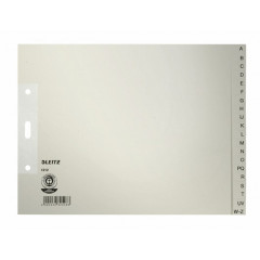 Index Leitz 1/2 A4+ karton 100gr 2-gaats A-Z (internationaal) grijs