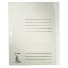 Tabbladen Leitz karton A4 maxi 20 tabs 3-gaats grijs