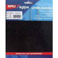 Etiketten Apli Agipa cijfers 20mm zwart (177)