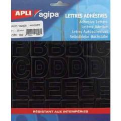 Etiketten Apli Agipa letters 30mm zwart (192)