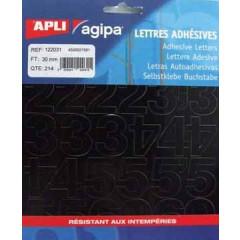 Etiketten Apli Agipa cijfers 30mm zwart (214)