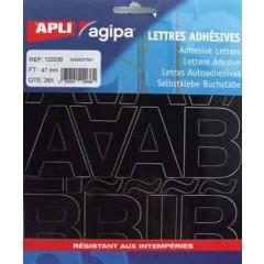 Etiketten Apli Agipa letters 47mm zwart (261)