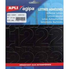 Etiketten Apli Agipa cijfers 47mm zwart (286)