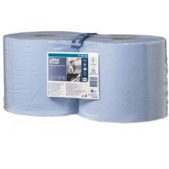 Poetsdoek Tork Advanced 420 Blue Roll W1/W2 2-laags 24cmx255m 750vel (2)