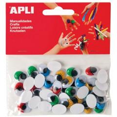 Bewegende ogen Apli kids zelfklevend 16mm assorti (75)