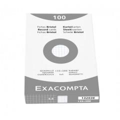 Steekkaart Exacompta 125x200 geruit wit (100)