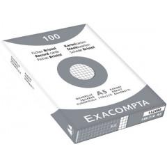 Steekkaart Exacompta 148x210 geruit wit (100)