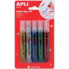 Glitterlijm Apli metallic assorti 13ml (5)