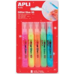 Glitterlijm Apli fluo assorti 13ml (5)