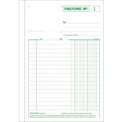Facturen Exacompta karton 21x14,8cm 50blad tripli zelfkopiërend franstalig