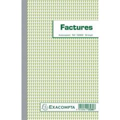 Facturen Exacompta karton 21x13,5cm 50blad dupli zelfkopiërend franstalig