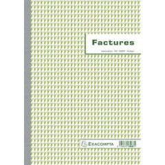 Facturen Exacompta karton 29,7x21cm 50blad dupli zelfkopiërend franstalig