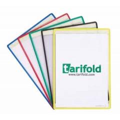 Ophangtas Tarifold A4 zelfklevend PVC assorti (5)