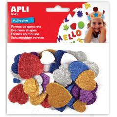 Schuimrubberfiguren Apli kids zelfklevend hart assorti glitter (50)