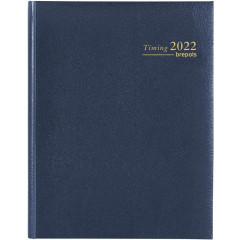Agenda Brepols Timing Lima blauw 2020 1 week/2 pagina's