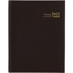 Agenda Brepols Timing Lima 172x220mm zwart 2021 1 week/2 pagina's