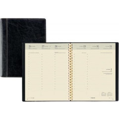 Agenda Brepols Timing Palermo 168x220mm zwart 2021 1 week/2 pagina's