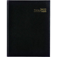 Agenda Brepols Timing Lima 171x220mm NL zwart 2021 1 week/2 pagina's