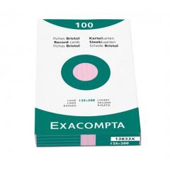 Steekkaart Exacompta 125x200 gelijnd roze (100)