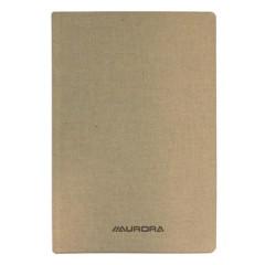 Copybook Aurora linnen kaft 12,5x19,5cm geruit 192blz grijs