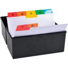 Tabbladen Exacompta voor systeemkaartenbakken karton A7 A-Z 25 tabs wit