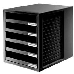 Ladenblok Han Systembox met open laden zwart