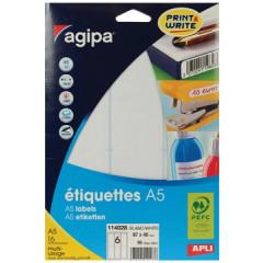 Etiketten Agipa ronde hoeken A5 6 etik/bl 97x46mm (16)