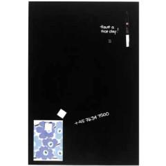 Magnetisch glasbord Naga 40x60cm zwart