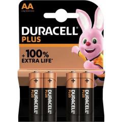 Batterij Duracell Plus 100% AA (4)