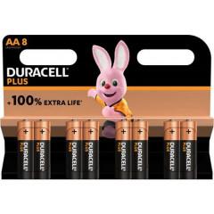 Batterij Duracell Plus 100% AA (8)(4002548/4017764)