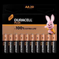Batterij Duracell Plus 100% AA (20)(4017986)