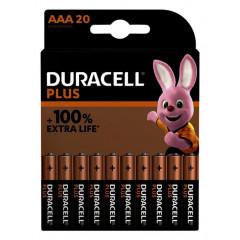 Batterij Duracell Plus 100% AAA (20)